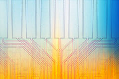 Color microelectronics background chips Royalty Free Stock Image