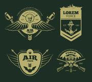 Color military vector patches Stock Photo