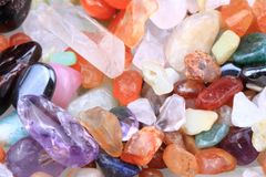 Color mineral (gems) as nice texture Royalty Free Stock Images
