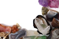 Color minerals and gems background Royalty Free Stock Image