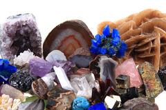 Color minerals and gems collection Royalty Free Stock Images