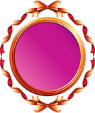 Mirror frame from ribbons Stock Image