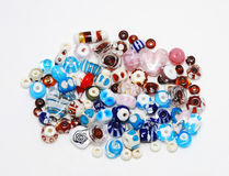 Color mix of lampwork beads Stock Photography