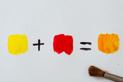 Color mixing or color math Royalty Free Stock Image