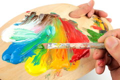 Free Color Mixing On Pallet Stock Image - 22167841