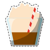 Color mocha glass icon image Royalty Free Stock Image