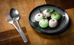 Color mochi cakes Royalty Free Stock Images