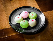 Color mochi cakes Royalty Free Stock Photos