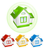 Color models of house Royalty Free Stock Photography