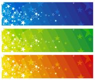 Color modern  banners, vector. Color  banners with stars, vector illustration Stock Images