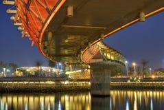 Color modern bridge Stock Photo