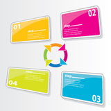 Color Modern Design glossy banners template Stock Photos