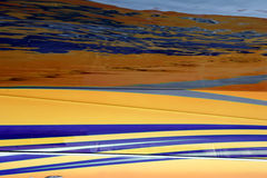 Color modified landscape. Surrealistic, abstract landscape with color modification Royalty Free Stock Photography