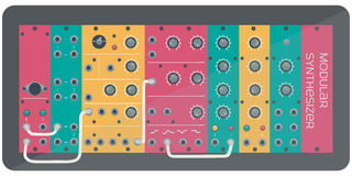 The color modular synthesizer Royalty Free Stock Photos