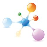 Color molecule Royalty Free Stock Images