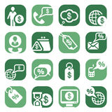 Color Money Icons Stock Image