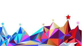 Color montains. Vector illustration Royalty Free Stock Photo