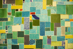 Color mosaic stock image