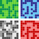 Color mosaic. Mosaic consist of color squares. Vector illustration Royalty Free Stock Photo