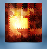 Color mosaic abstraction template Royalty Free Stock Photos