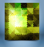 Color mosaic abstraction template Stock Photo