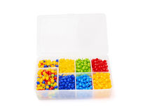 Color mosaic into the box Stock Photography