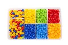 Color mosaic into the box Stock Photos