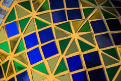 The color mosaic glass Royalty Free Stock Images