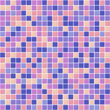 Color Mosaic Tiles Texture with White Filling Royalty Free Stock Images