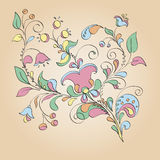 Color motif of flowers royalty free illustration