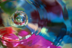 Color motion drop in water, abstraction blurred Royalty Free Stock Images