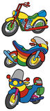 Color motorbikes collection Stock Image