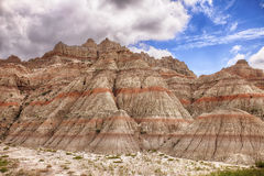 Color Mountains In The Badlands Royalty Free Stock Photos