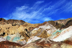 Color mountains of Death valley Royalty Free Stock Photo