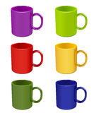 Color mugs Stock Image