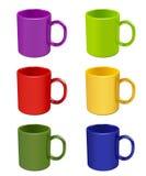 Color mugs Stock Image