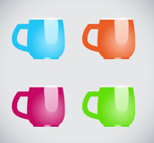 Color mugs Stock Photo
