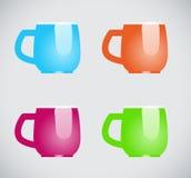 Color mugs Stock Photo