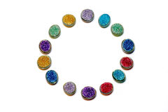 Color. Multiple coloured beads in a circle isolated on a white background Royalty Free Stock Photography