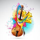 Color of Music Royalty Free Stock Photos