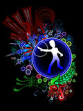 Color Music. Musical theme design, all elements separate, gradient used Stock Images