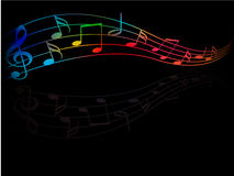 The color of music Stock Photography