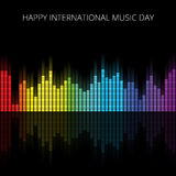 Color Music Equalizer, Vector illustration. Stock Image