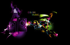 Color music illustration Royalty Free Stock Photos