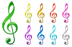 Color music note stock illustration