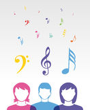 Color music people Royalty Free Stock Photo