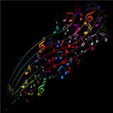 Color of music and song Stock Photos