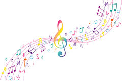 Color musical background Royalty Free Stock Photo