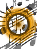 Color musical notes Royalty Free Stock Photography