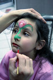 Color my life. Face painting Royalty Free Stock Images